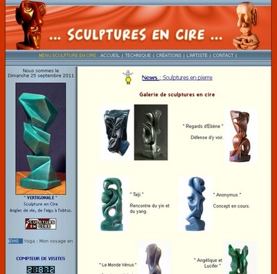sculptures en cire